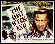 1940s Poster Art Framed Prints - The Lost Weekend, Philip Terry, Jane Framed Print by Everett