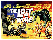 1960 Movies Prints - The Lost World, Poster Art, 1960 Print by Everett