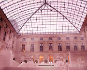 Paris Photography Prints - The Louvre - Musee du Louvre Pink Pyramid  Print by Kathy Fornal