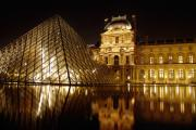Mark Currier Art - The Louvre by Mark Currier