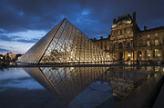France Photo Framed Prints - The Louvre Museum Framed Print by Ayhan Altun