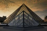 Chuck Kuhn - The Louvre Sunset