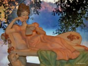 Figurine Mixed Media - The Love Letter by Betty Northcutt