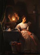 Love Letter Prints - The Love Letter Print by Petrus van Schendel