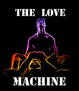 Kiss Paintings - The Love Machine by Stefan Kuhn