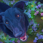 Labs Digital Art Prints - The Love of a Dog Print by Laurie Cook