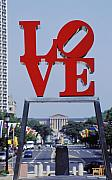 Indiana Prints - The Love Sculpture Print by Carl Purcell