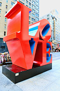 Midtown West Prints - The Love Sculpture Print by Paul Ward