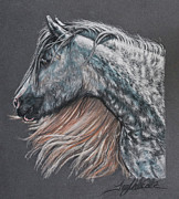 Grey Pastels Prints - The Lovely Dapples Print by Terry Kirkland Cook