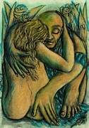 Janice Hightower Art - The Lovers by Janice Hightower