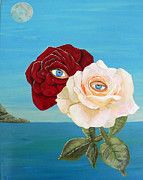 Eric Kempson Painting Prints - The Lovers  roses Print by Eric Kempson