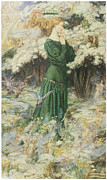Victorian Era Woman Framed Prints - The Lovers World Framed Print by Eleanor Fortescue-Brickdale