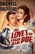 1940s Poster Art Framed Prints - The Loves Of Edgar Allen Poe, Shepperd Framed Print by Everett