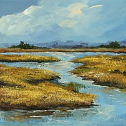 South Carolina Low Country Marsh Paintings - The Low Country by Torrie Smiley