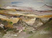 Landscap Painting Originals - The Lower Mountain Range by Edward Wolverton