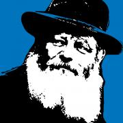 The Lubavitche Rebbe Print by Anshie Kagan