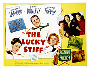 Stiff Metal Prints - The Lucky Stiff, Brian Donlevy, Dorothy Metal Print by Everett