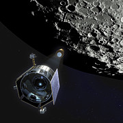 Spacecraft Art - The Lunar Crater Observation by Stocktrek Images