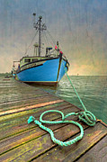 Wooden Ship Prints - The Lurcher Digger Print by Debra and Dave Vanderlaan