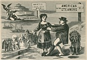 Steam Ships Prints - The Lure Of American Wages. John Bull Print by Everett