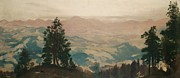 Mountainous Paintings - The Lure of the Chase by Arthur Bowen Davies