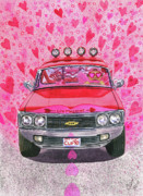 Chevrolet Painting Metal Prints - The Luv Machine Metal Print by Catherine G McElroy