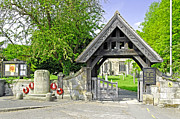 Notice Board Framed Prints - The Lych Gate - Repton Churchyard Framed Print by Rod Johnson