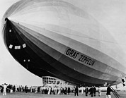 Dirigible Acrylic Prints - The Lz 129 Graf Zeppelin, Making Acrylic Print by Everett