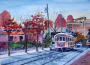 Trolley Paintings - The M Line by Ron Stephens