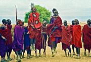 Herders Prints - The Maasai Print by Gwyn Newcombe