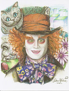 Mad Hatter Posters - The Mad Hatter Poster by Andrew Kirchner