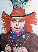 Mad Hatter Drawings - The Mad Hatter by Barbara Giordano