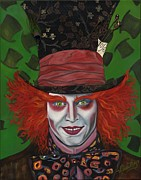 Mad Hatter Painting Posters - The Mad Hatter Poster by Viveca Mays