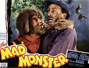 1940s Poster Art Photos - The Mad Monster, Glenn Strange Left by Everett