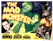 Horror Movies Framed Prints - The Mad Monster, Johnny Downs, Glenn Framed Print by Everett