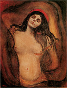 Edvard Munch Posters - The Madonna Poster by Edvard Munch