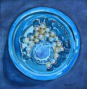 Marbles Paintings - The Magic Bowl by Jenny Armitage