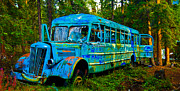 Bus Photo Originals - The Magic Bus by Bob Moore