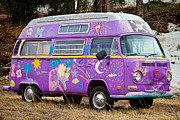 Colorful Photography Prints - The Magic Bus Print by James Bo Insogna