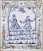 Plaque Art - The Magic Flute by French School