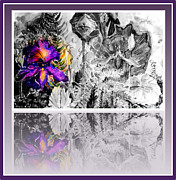 Orchids Digital Art - The Magic Mirror by Mindy Newman