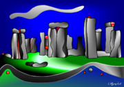 Stonehenge Digital Art Prints - The Magic of Stonehenge Print by Wolfgang Karl