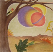 Surrealism Pastels - The Magic Tree by Margrit Schlatter