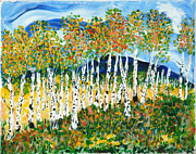 Most Mixed Media Posters - The Magical Aspen Forest Poster by Christy Woodland
