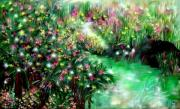 Boulder Mixed Media Posters - The Magical Garden Poster by Sherri  Of Palm Springs