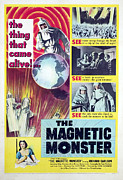 1950s Poster Art Framed Prints - The Magnetic Monster, 1953 Framed Print by Everett