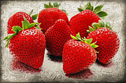 Juicy Strawberries Metal Prints - The Magnificent 7 Metal Print by Andee Photography