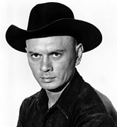 1960s Movies Posters - The Magnificent Seven, Yul Brynner, 1960 Poster by Everett