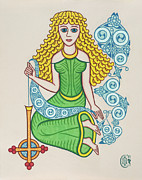 Celtic Knotwork Prints - The Maiden Print by Ian Herriott