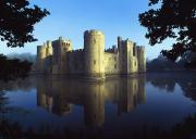 East Sussex Posters - The Majestic Bodiam Castle And Its Poster by Axiom Photographic
